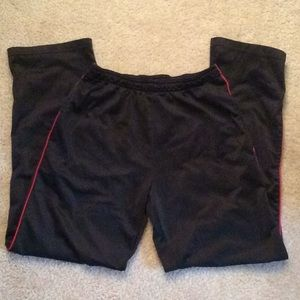 Other - Black jogging pants with pockets red accent sz sm